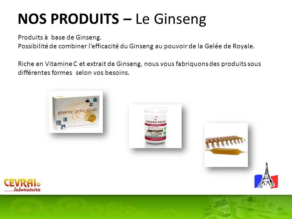 NOS PRODUITS – Le Ginseng
