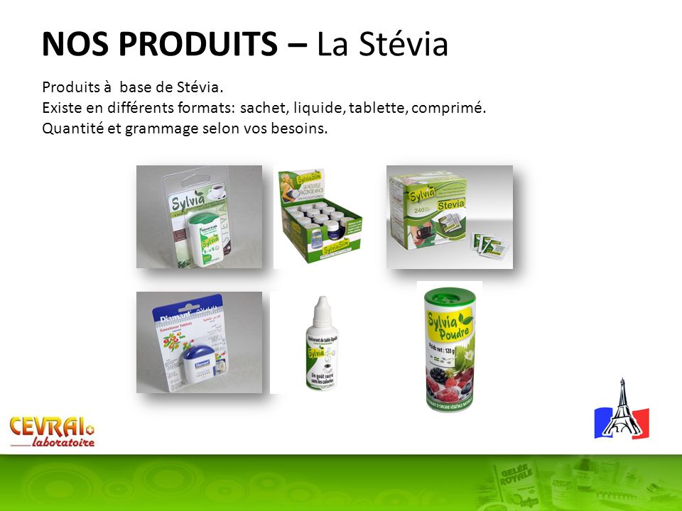NOS PRODUITS – La Stévia
