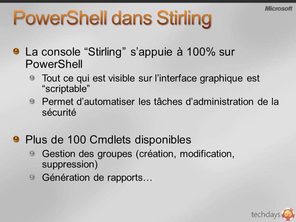PowerShell dans Stirling