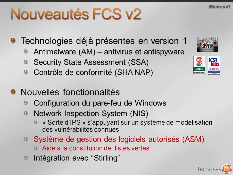 Nouveautés FCS v2 Technologies déjà présentes en version 1
