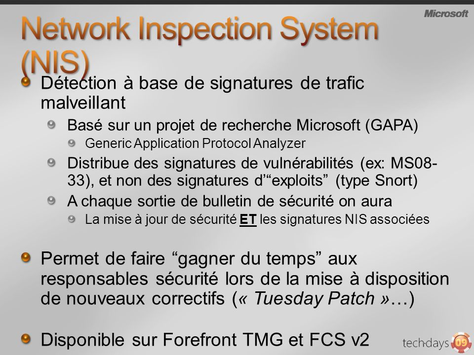 Network Inspection System (NIS)