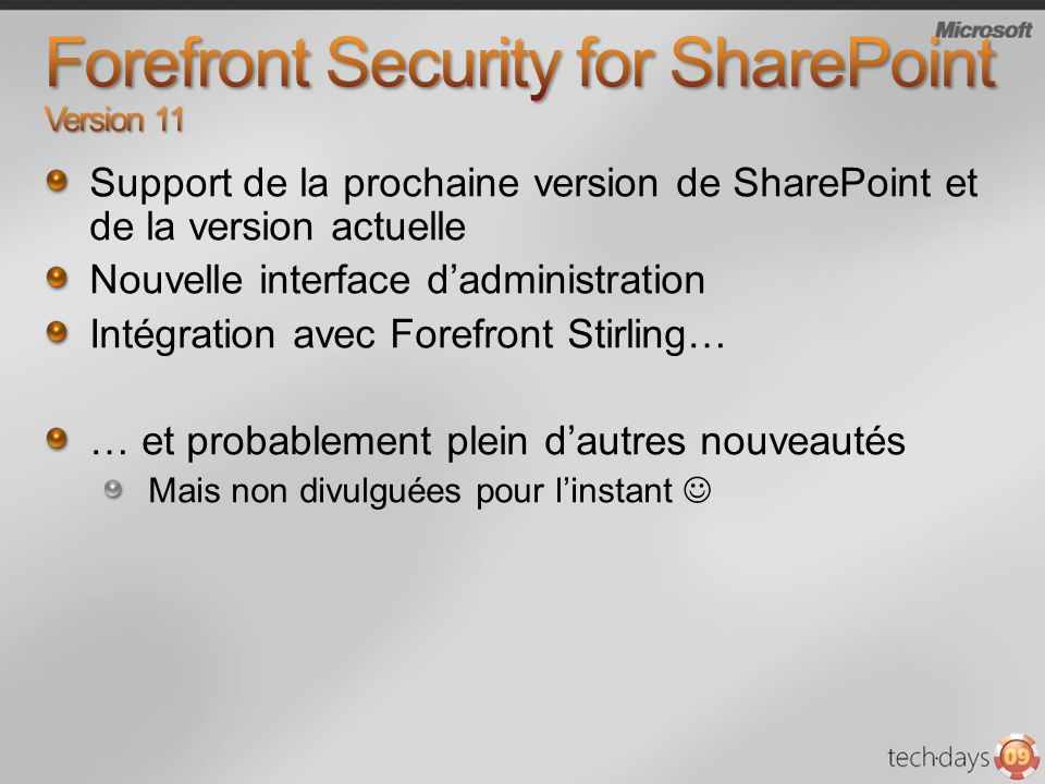 Forefront Security for SharePoint Version 11