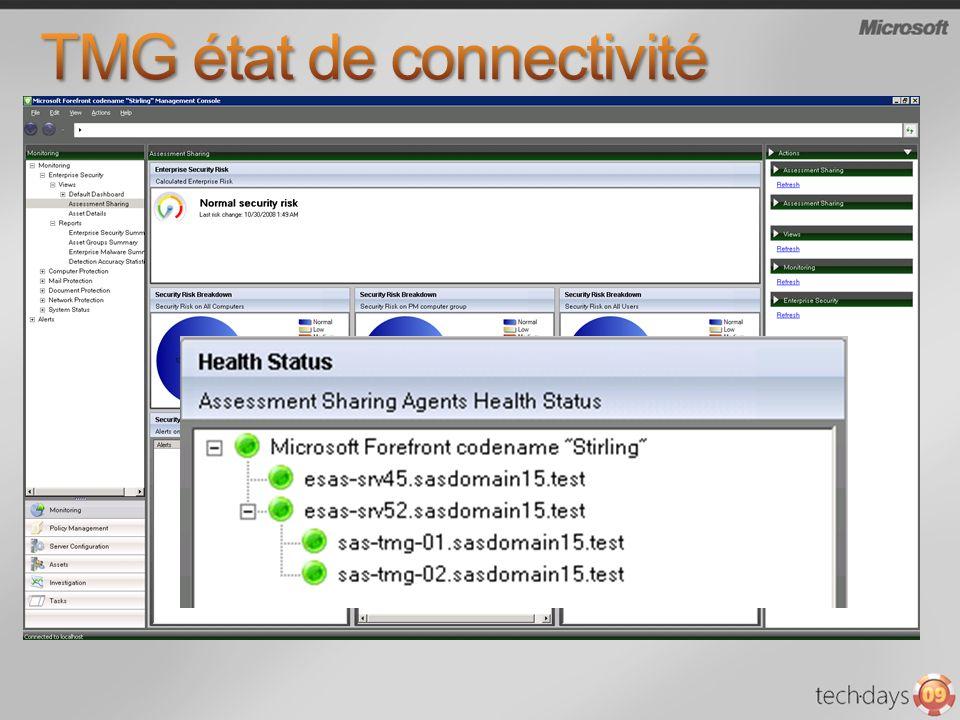 TMG état de connectivité