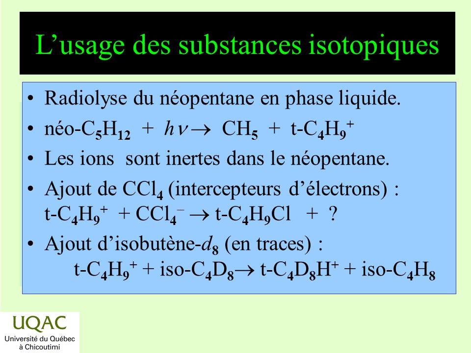 L'usage des substances isotopiques