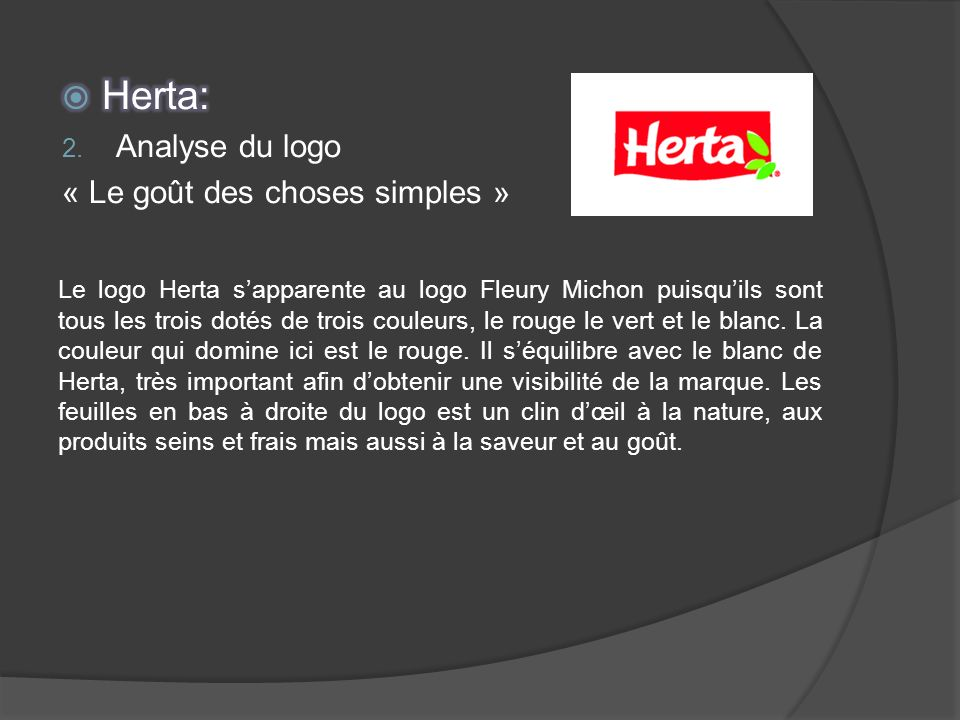 Herta: Analyse du logo « Le goût des choses simples »