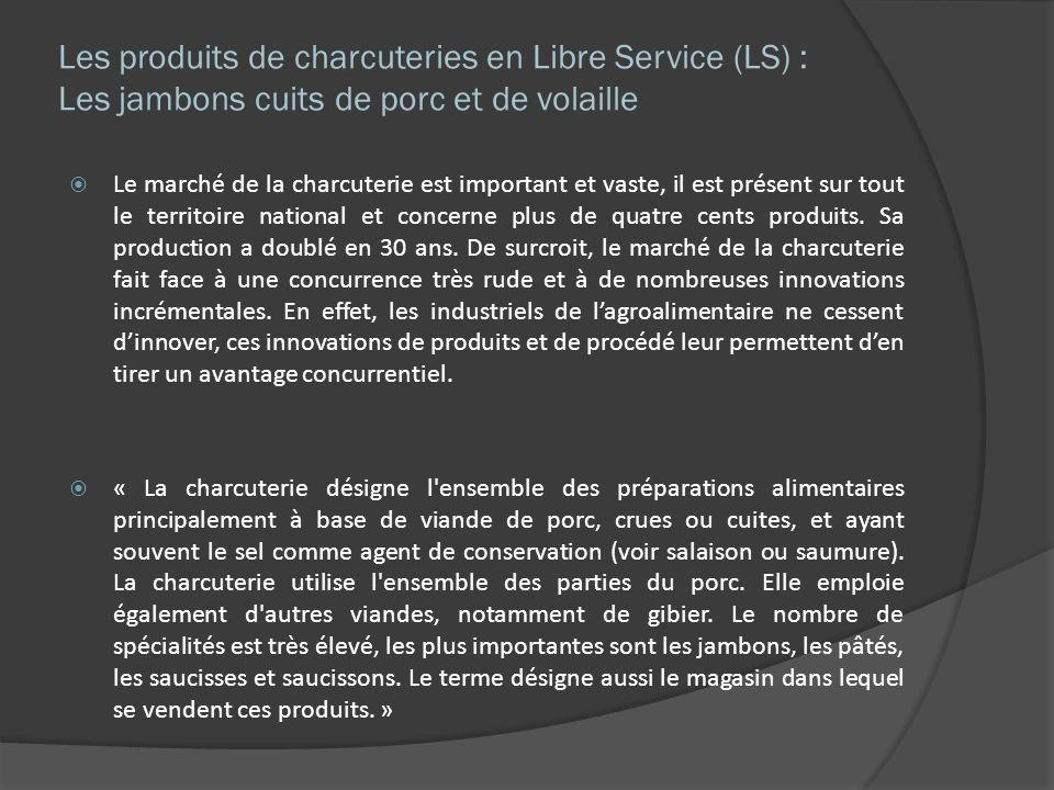 Les produits de charcuteries en Libre Service (LS) : Les jambons cuits de porc et de volaille