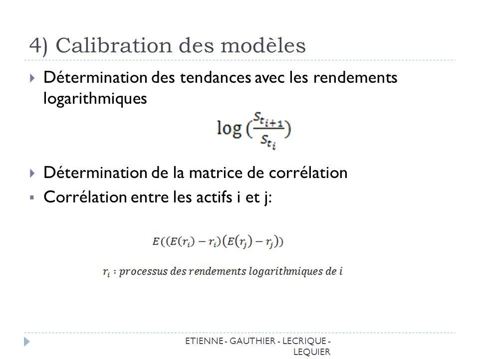 4) Calibration des modèles