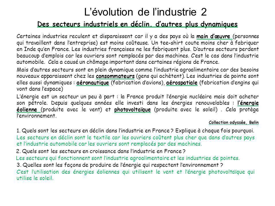 L'évolution de l'industrie 2