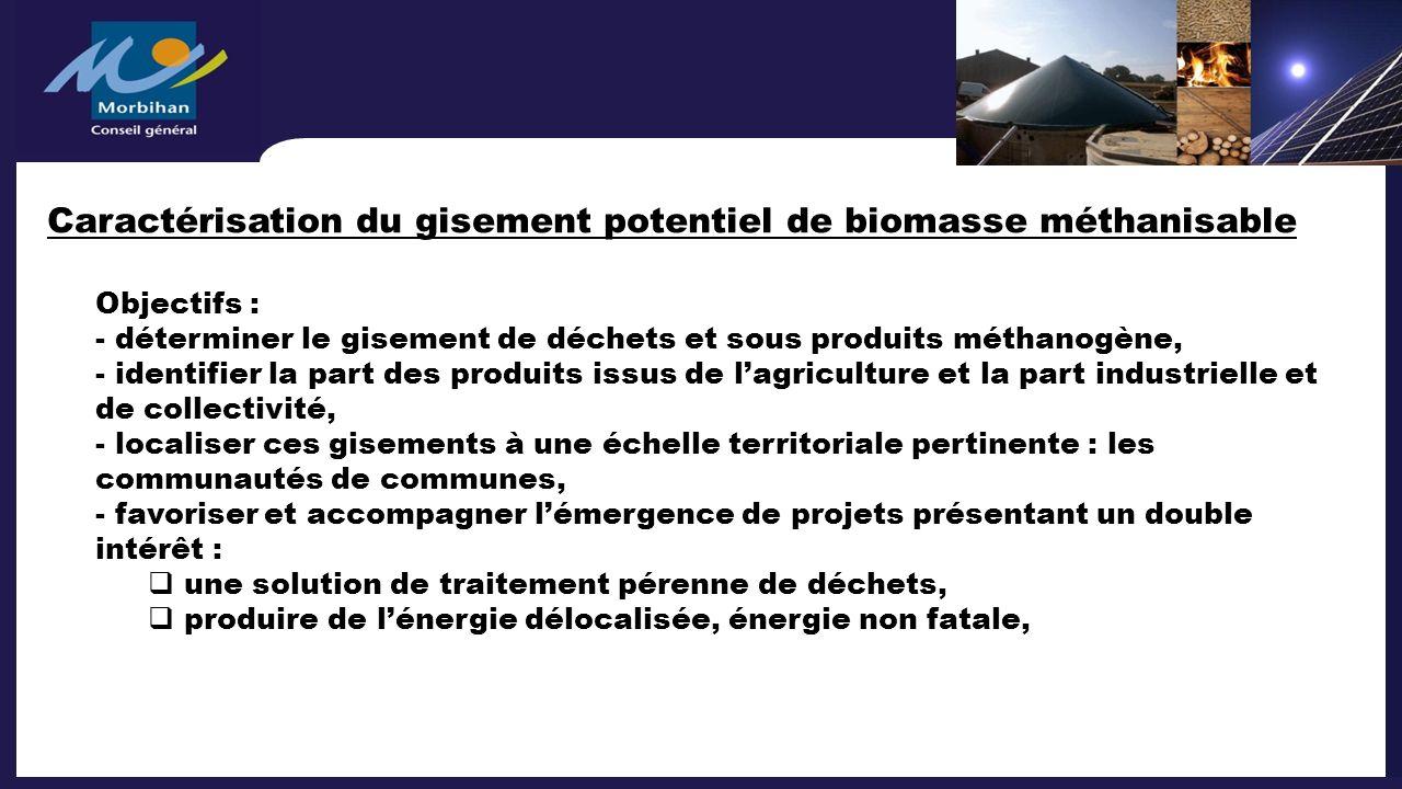 Caractérisation du gisement potentiel de biomasse méthanisable