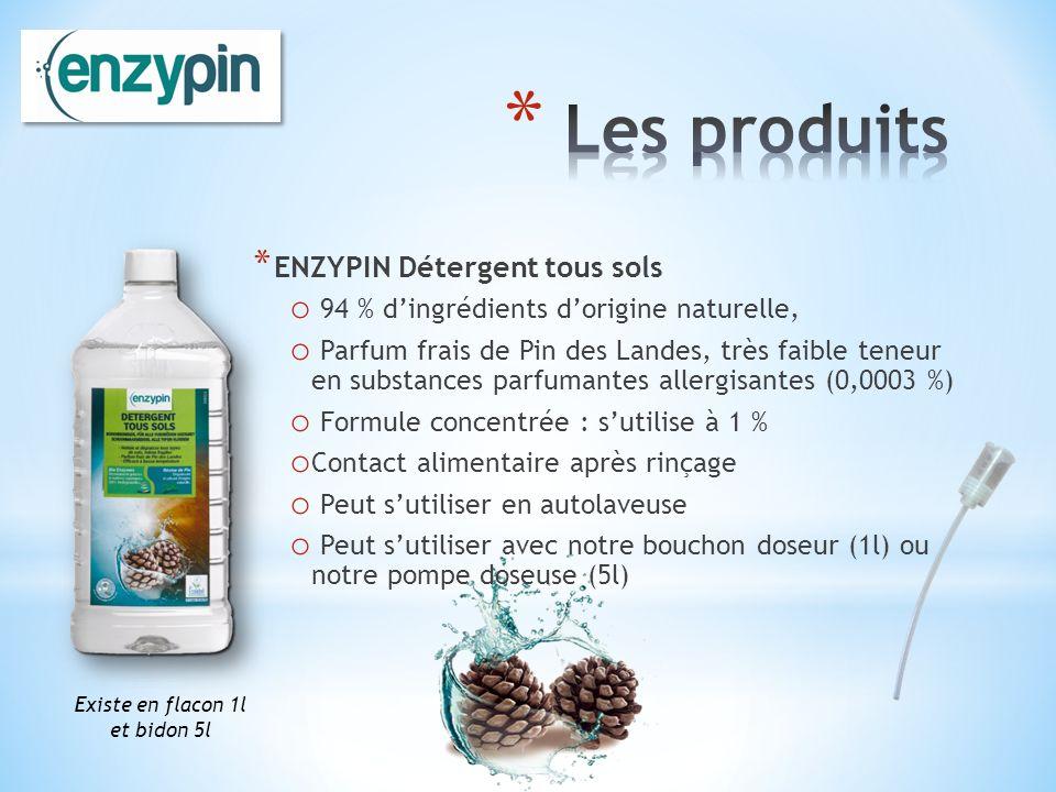 Les produits ENZYPIN Détergent tous sols