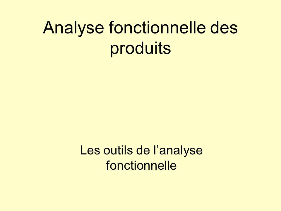 Analyse fonctionnelle des produits