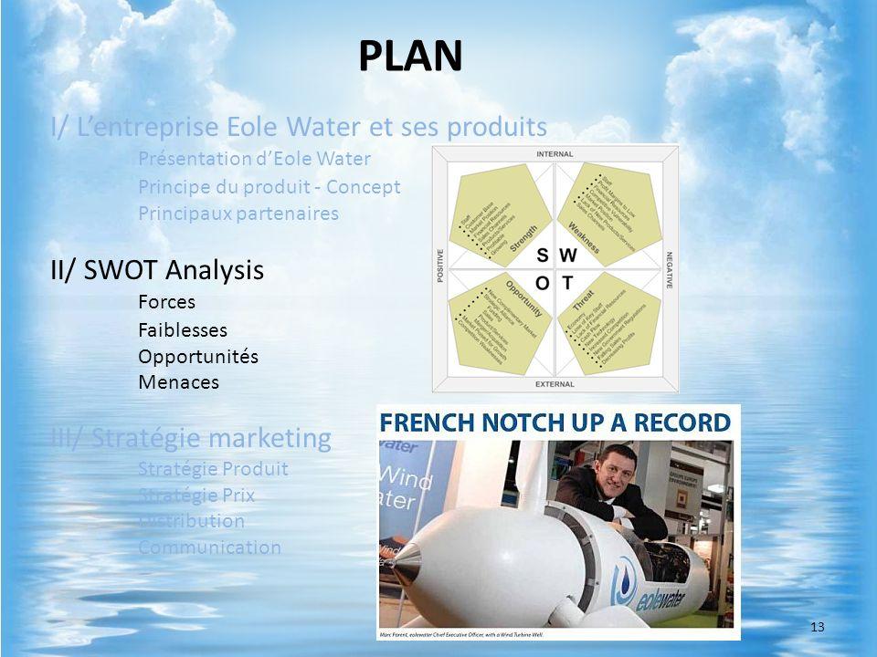 PLANI/ L'entreprise Eole Water et ses produits Présentation d'Eole Water. Principe du produit - Concept.