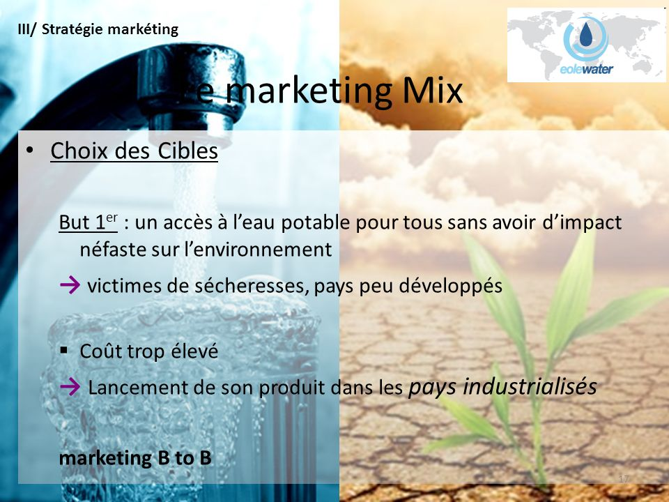 Le marketing Mix Choix des Cibles