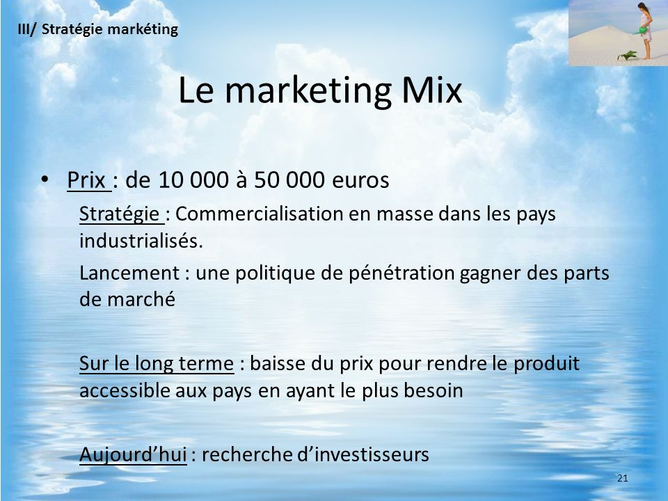 Le marketing Mix Prix : de 10 000 à 50 000 euros