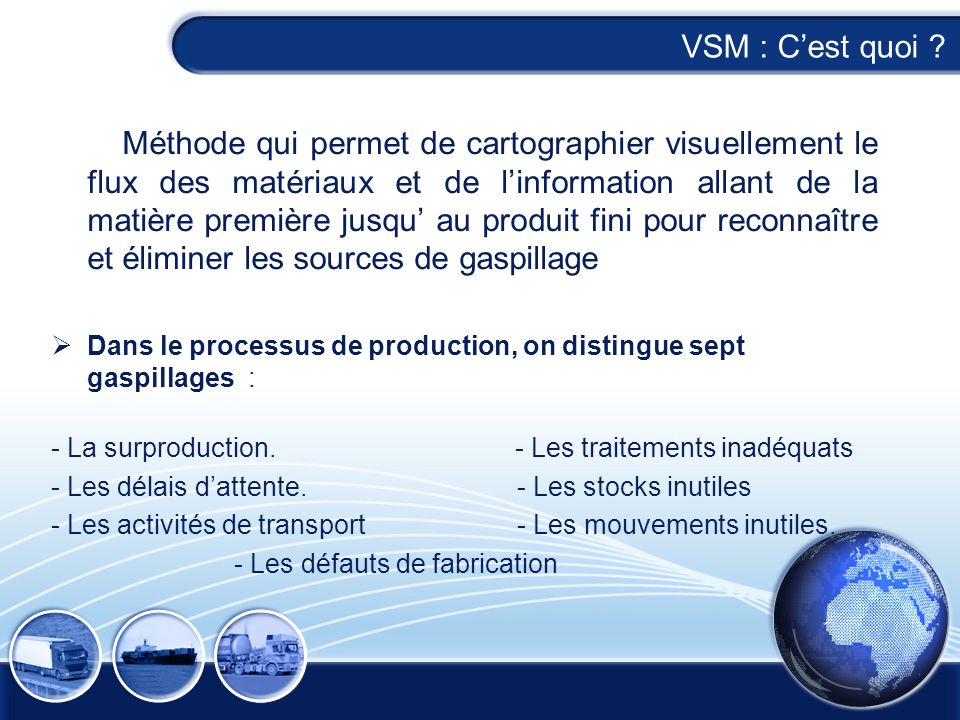 VSM : C'est quoi