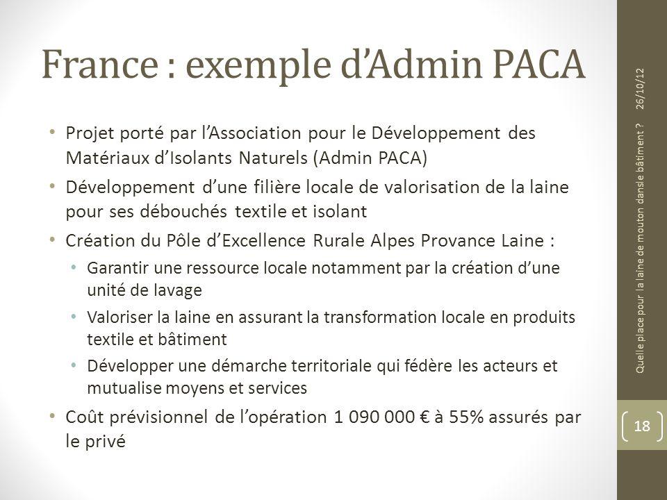 France : exemple d'Admin PACA