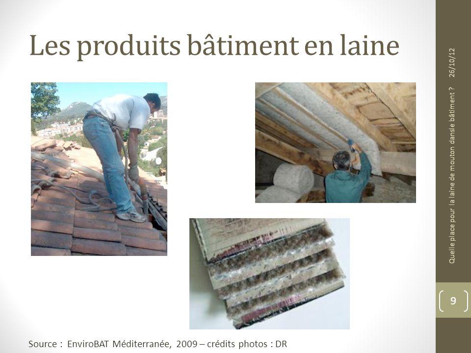Les produits bâtiment en laine