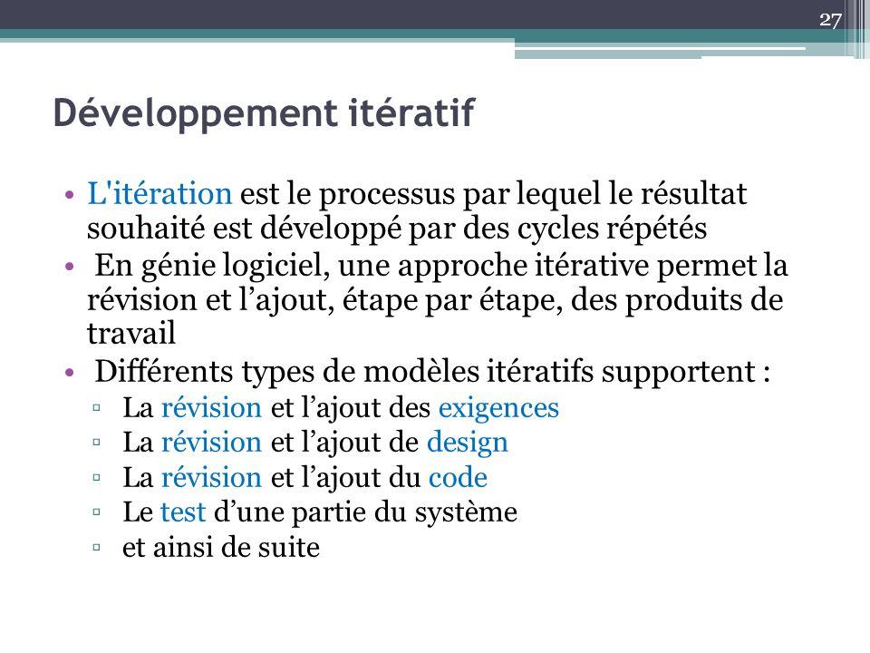 Développement itératif