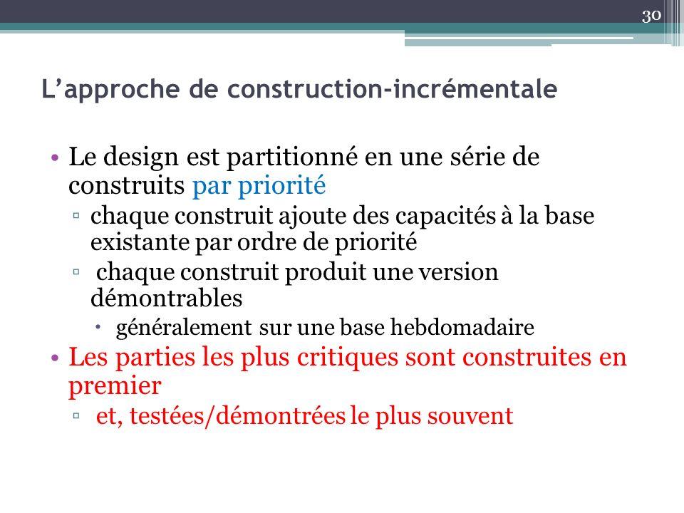 L'approche de construction-incrémentale
