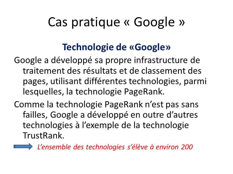 Technologie de «Google»