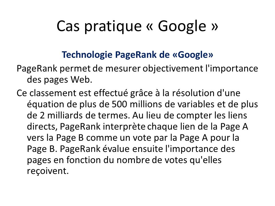 Technologie PageRank de «Google»