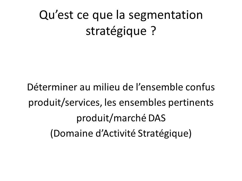 Qu'est ce que la segmentation stratégique