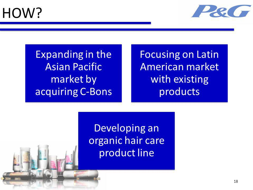 HOW Expanding in the Asian Pacific market by acquiring C-Bons