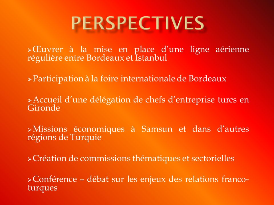 PERSPECTIVES Participation à la foire internationale de Bordeaux