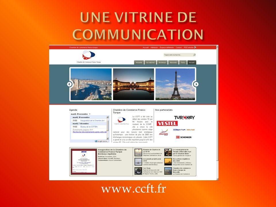 UNE VITRINE DE COMMUNICATION