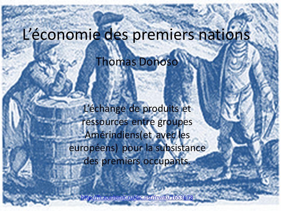 L'économie des premiers nations