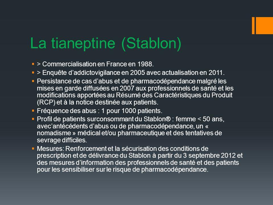 La tianeptine (Stablon)