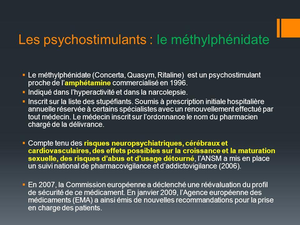 Les psychostimulants : le méthylphénidate