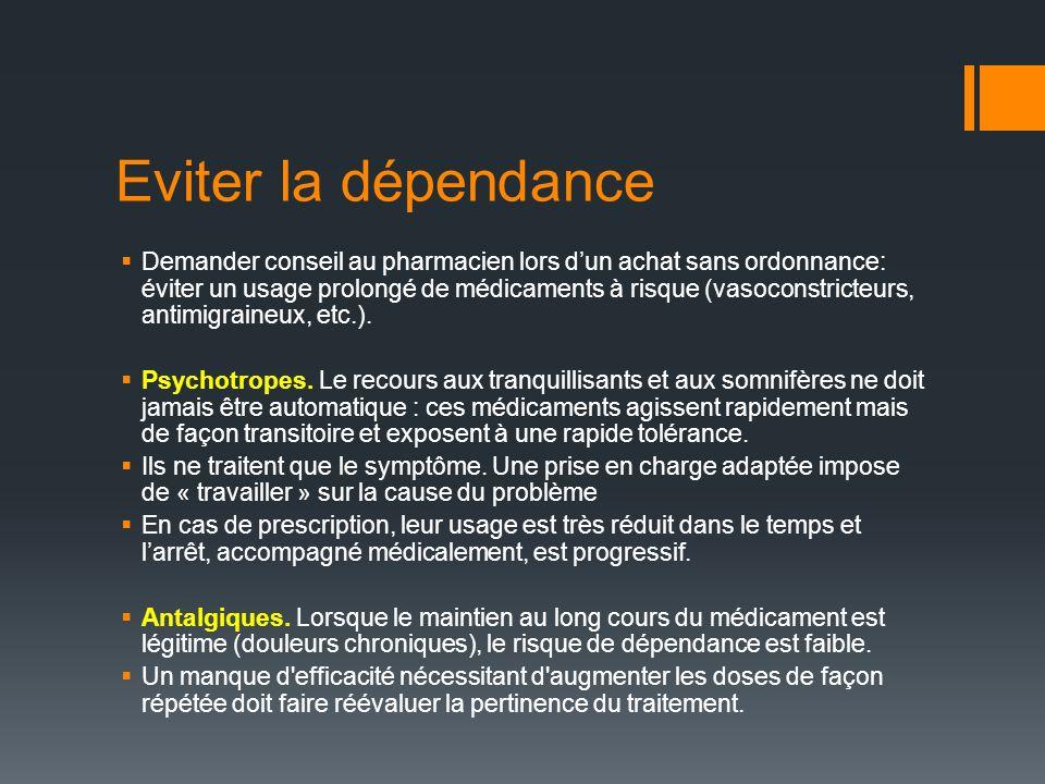 Eviter la dépendance