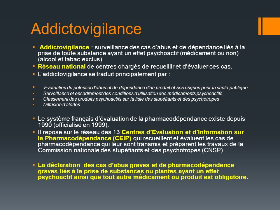 Addictovigilance