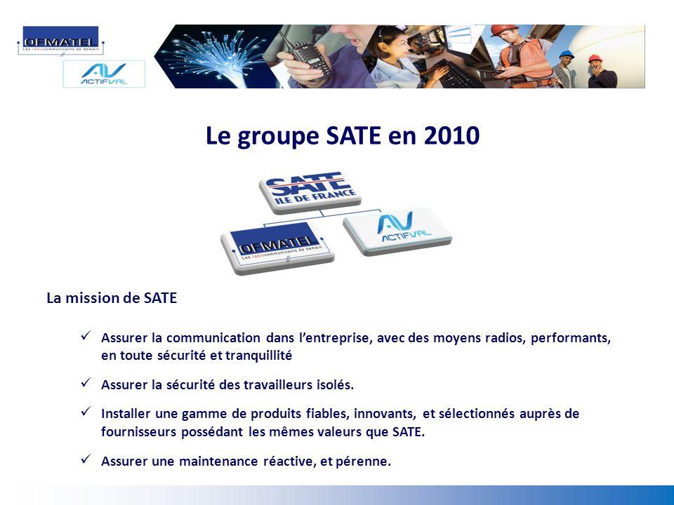 Le groupe SATE en 2010 La mission de SATE
