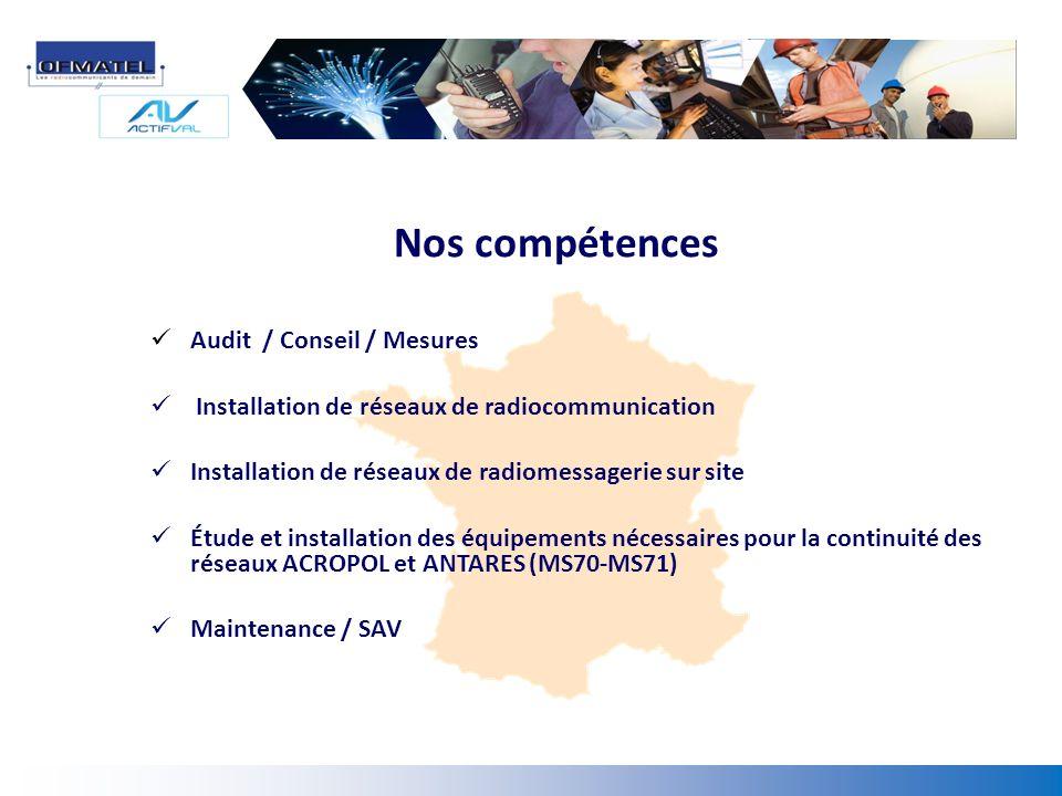 Nos compétences Audit / Conseil / Mesures