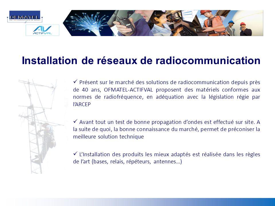 Installation de réseaux de radiocommunication
