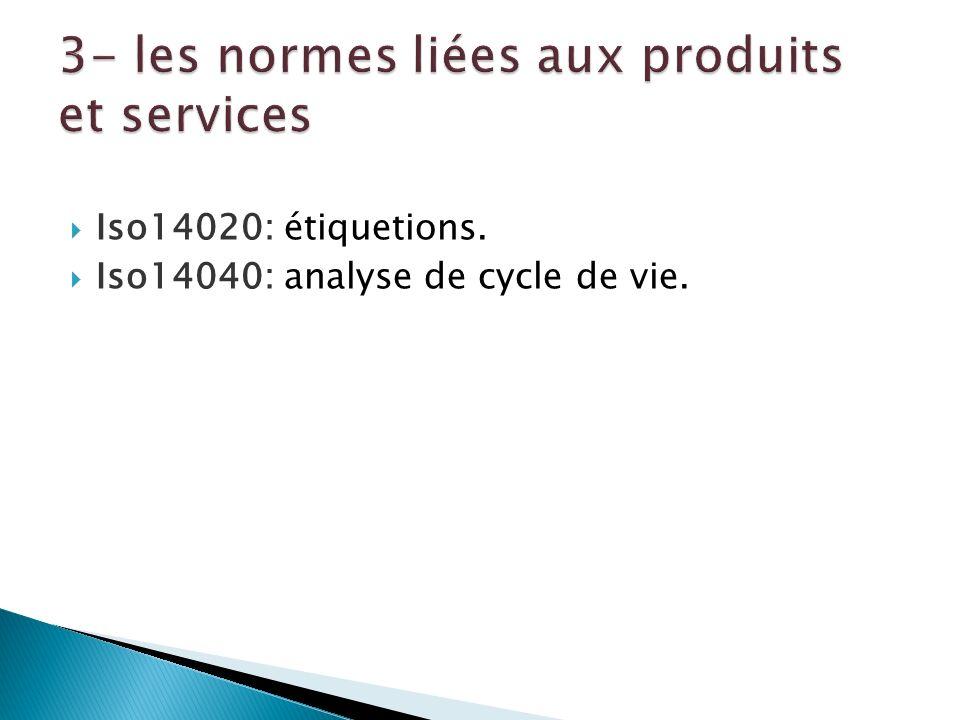 3- les normes liées aux produits et services