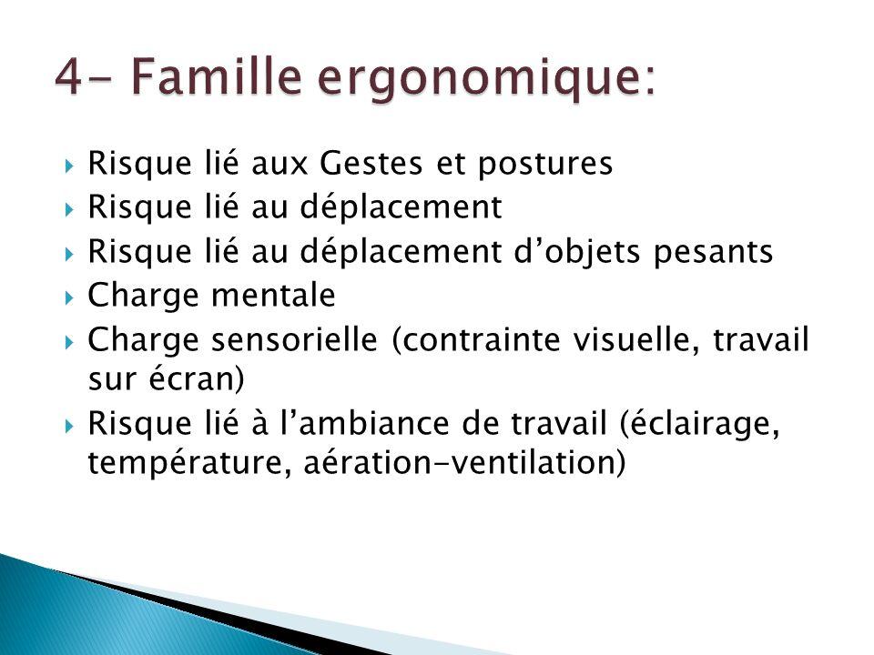 4- Famille ergonomique: