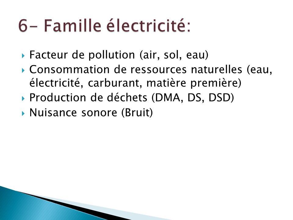 6- Famille électricité: