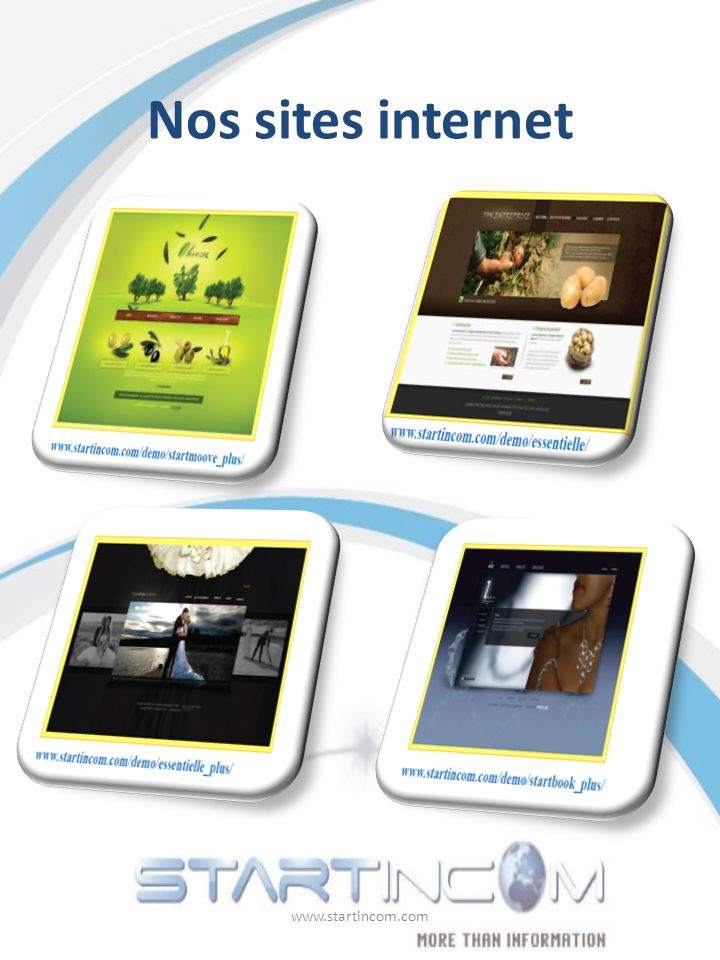 Nos sites internet www.startincom.com