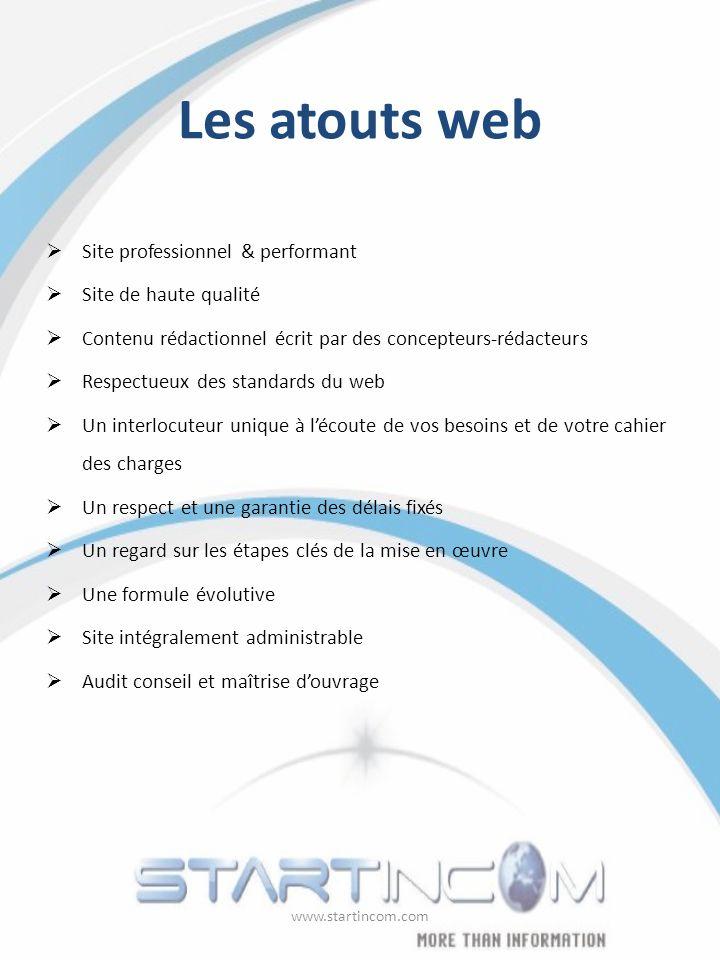 Les atouts web Site professionnel & performant Site de haute qualité