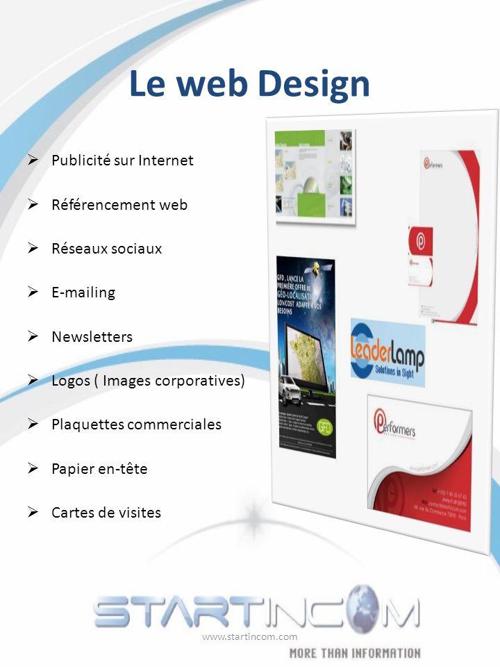 Le web Design Publicité sur Internet Référencement web Réseaux sociaux