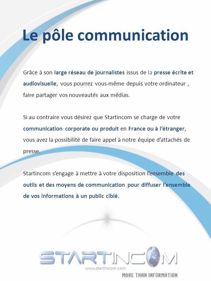 Le pôle communication