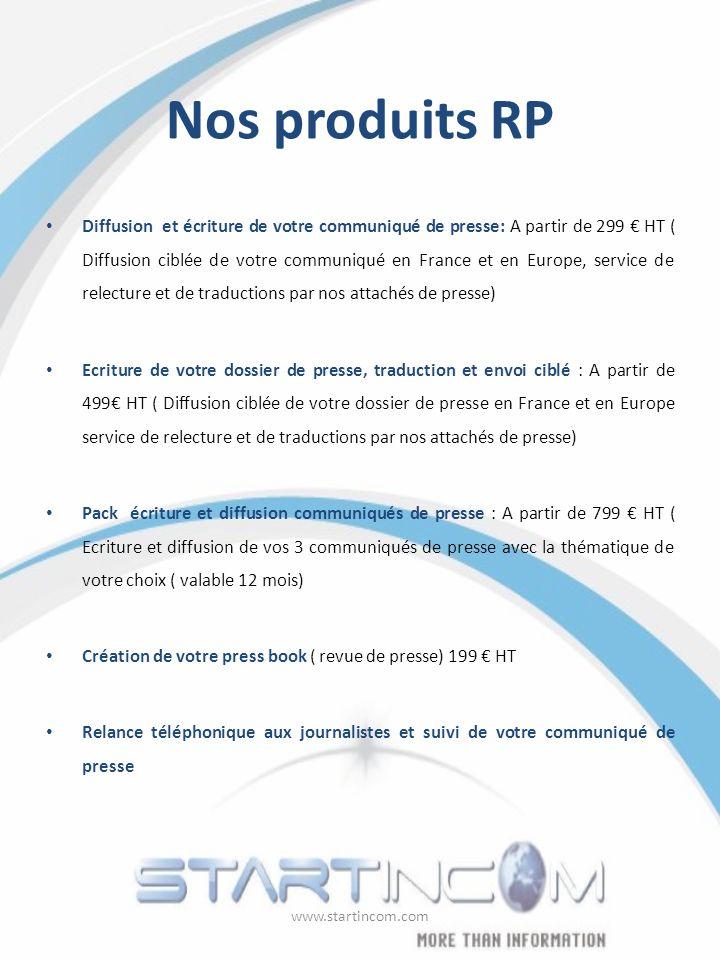 Nos produits RP