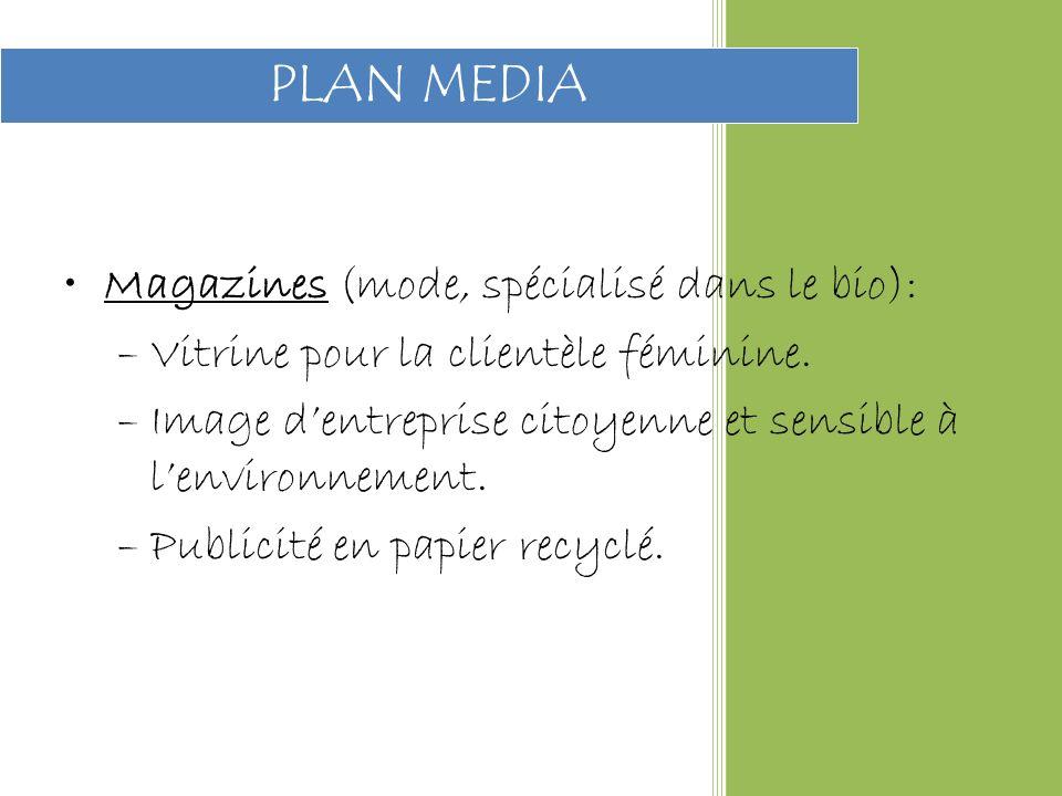 PLAN MEDIA Magazines (mode, spécialisé dans le bio):
