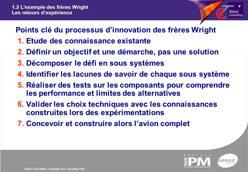 1.2 L exemple des frères Wright Les retours d'expérience