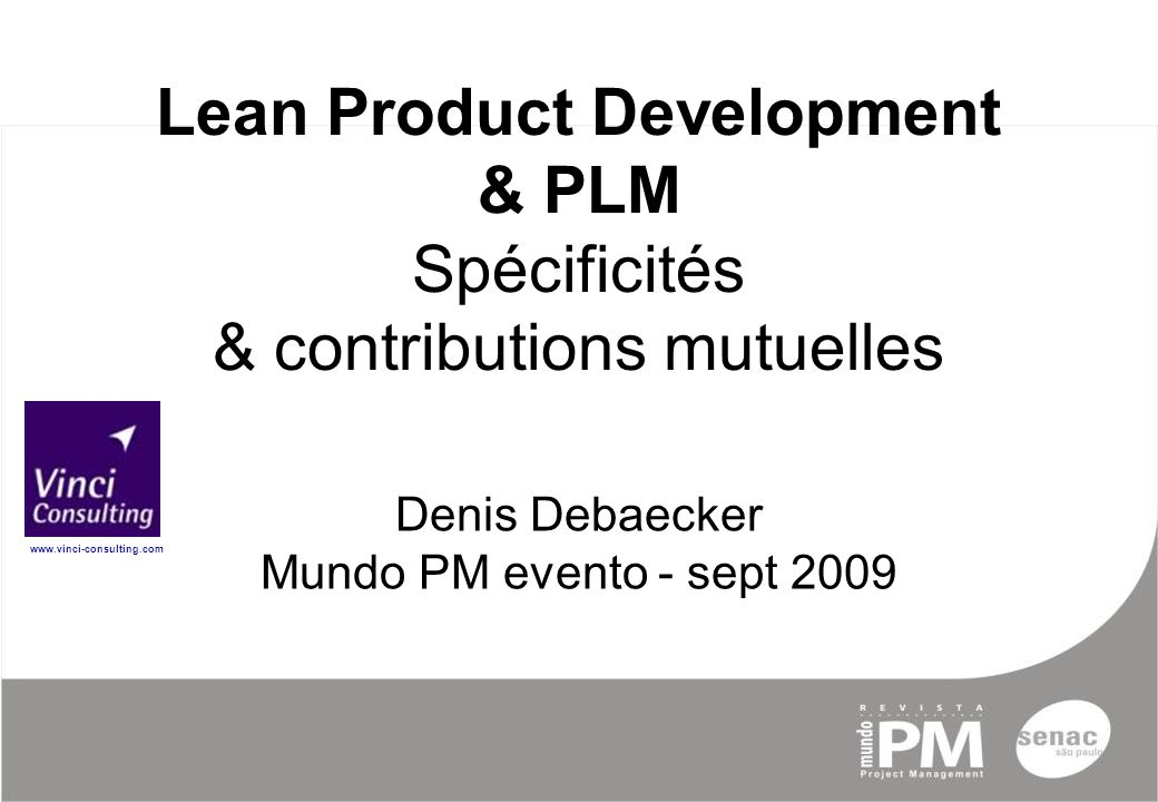 Lean product development plm sp cificit s for Product development consulting