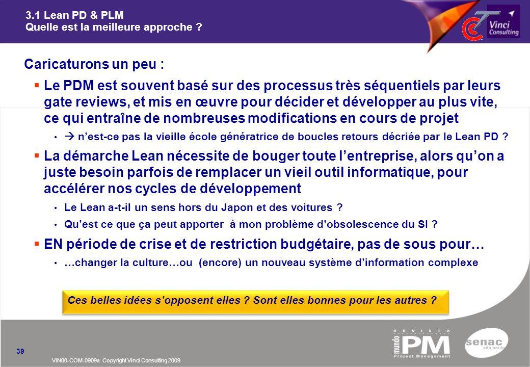 3.1 Lean PD & PLM Quelle est la meilleure approche