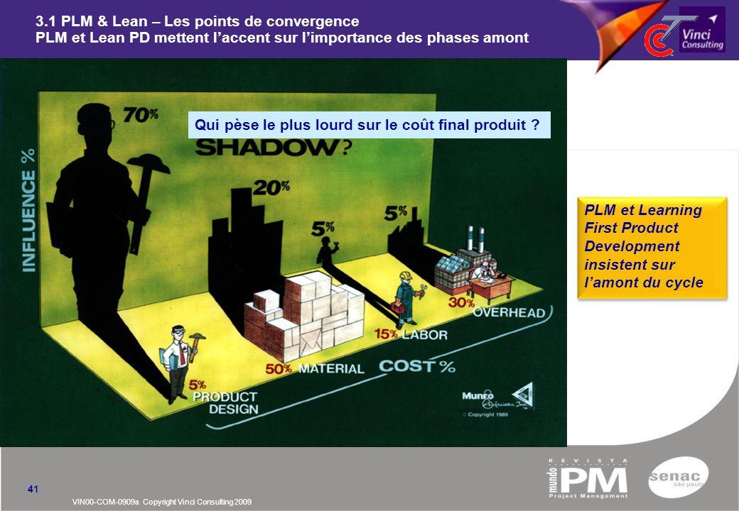 3.1 PLM & Lean – Les points de convergence PLM et Lean PD mettent l'accent sur l'importance des phases amont